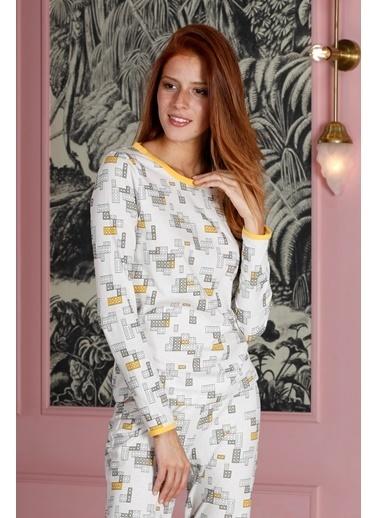 Hays Kadın Penye 2li Pijama Takımı Sarı